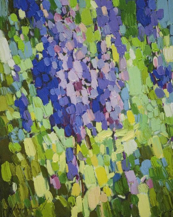 Lavenders Contemporary fine art  Original artwork on Canvas - Image 0