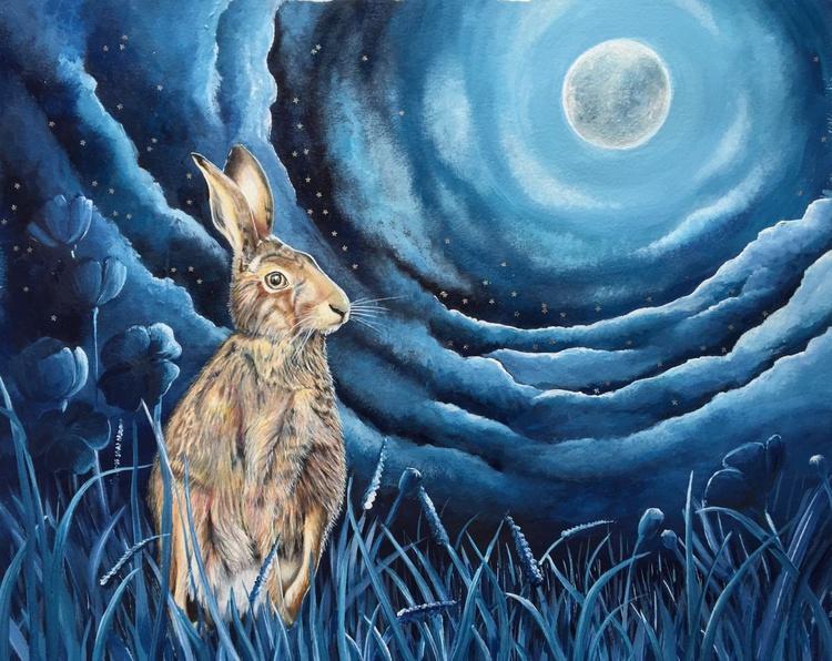 Starlit hare - Image 0
