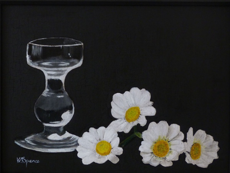 Daisies and Candlestick - Image 0