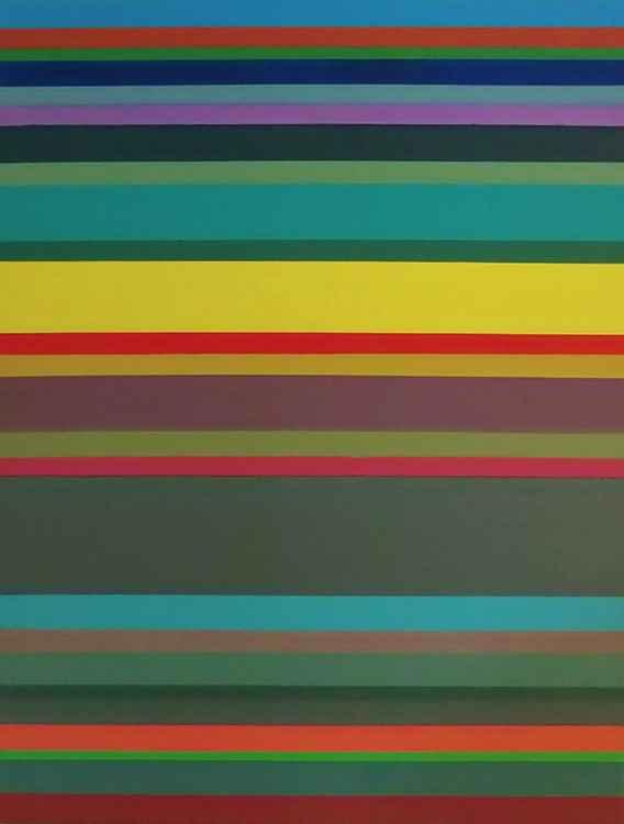 Sunset/Stripes #2 -