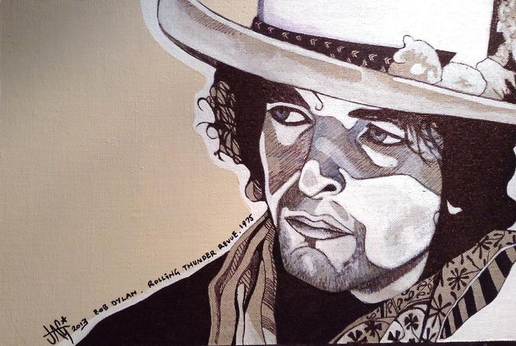 Bob Dylan Small Illustration - Image 0