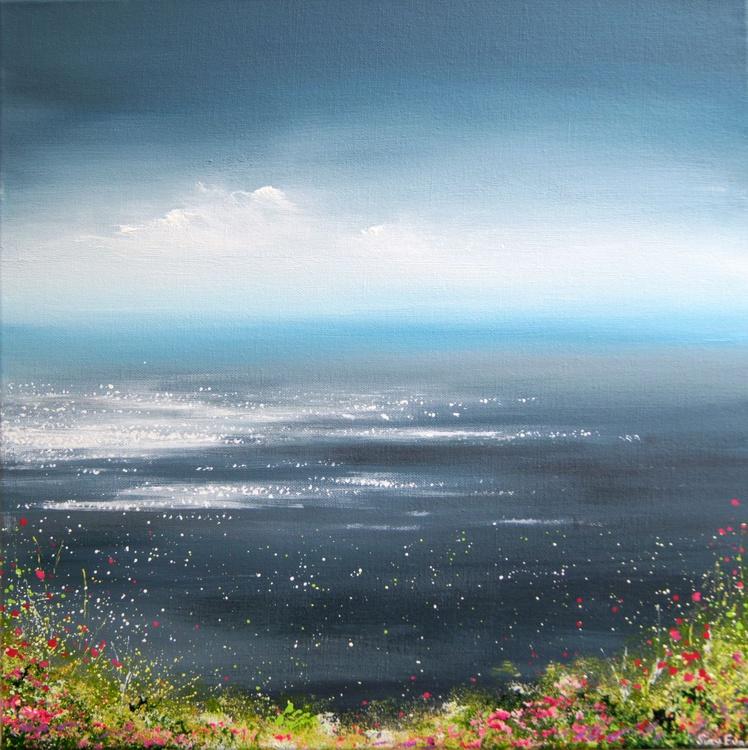 Seascape Painting - Flowers on the coast - Image 0