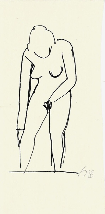 Nude washing, small format 8x16 cm - Image 0