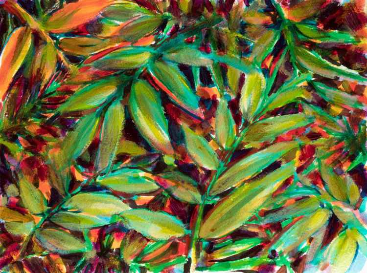 Leaves - small size artwork on paper -