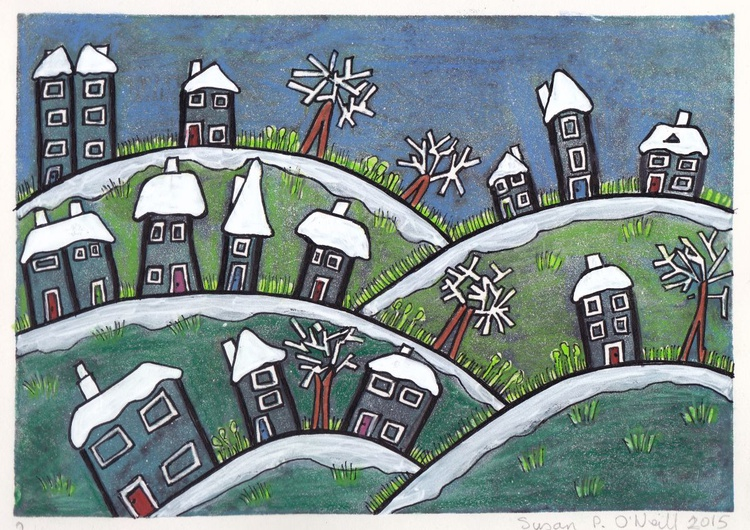 Snowy little village - 2 - Image 0