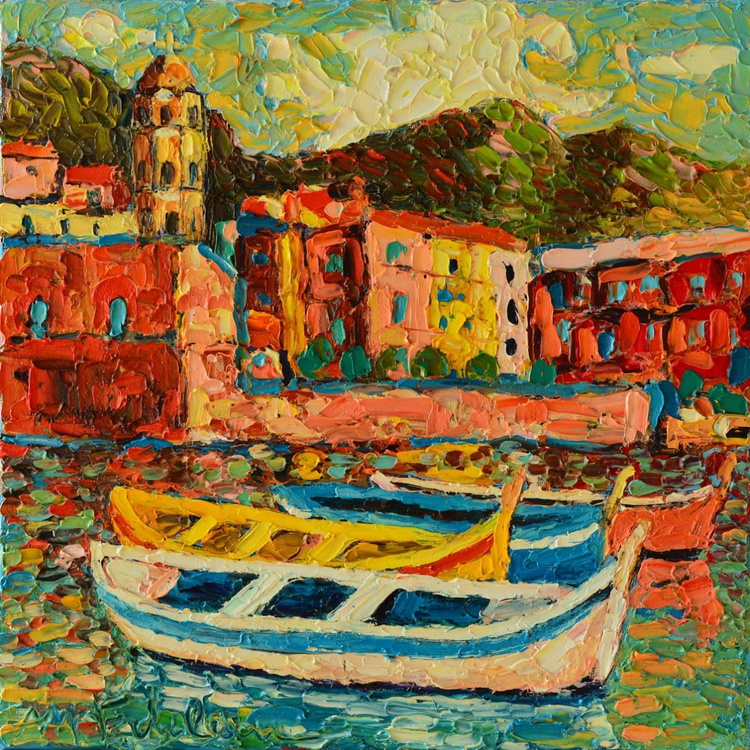 VERNAZZA FISHING HARBOUR CINQUE TERRE ITALY 3 - Image 0