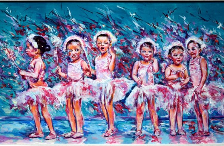 Young ballet dancers / 124 cm x 39 cm - Image 0