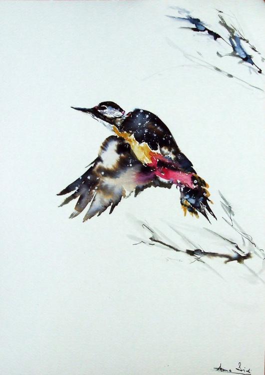 Bird in winter / Watercolour - Image 0