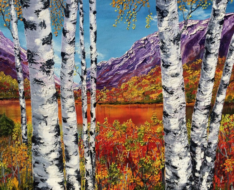 Autumn birches landscape - Image 0