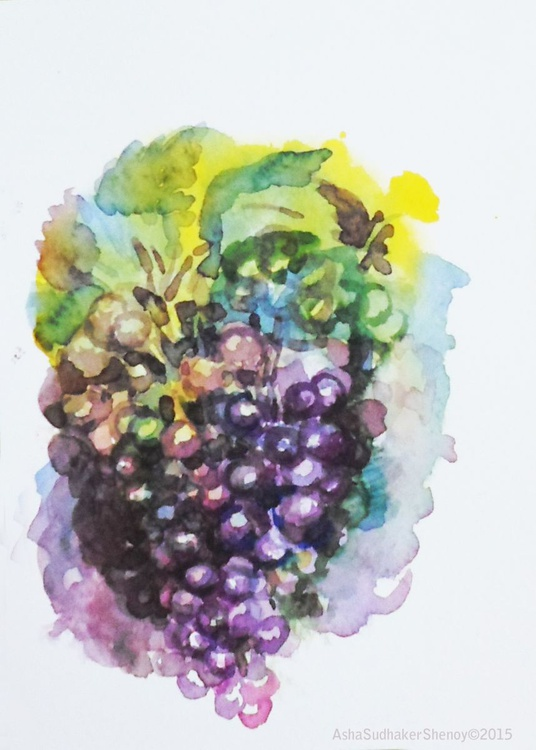"""Bunch of grapes 5""""x 7"""" - Image 0"""