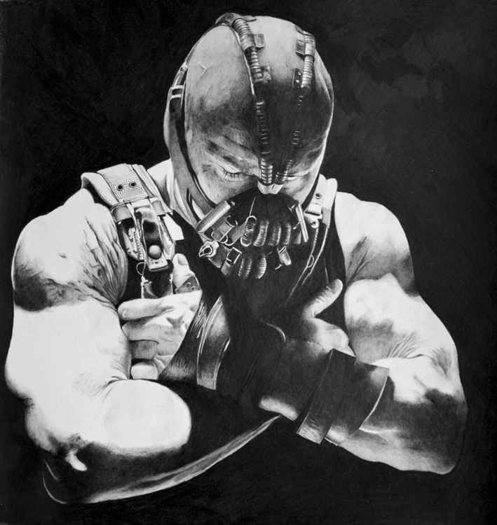 Bane - Dark Knight rises, pencil drawing