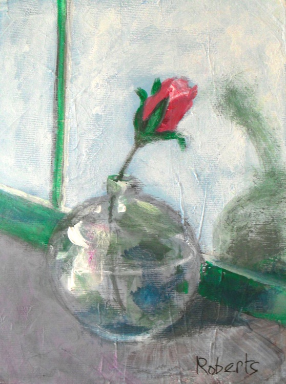 Rosebud on sill - Image 0