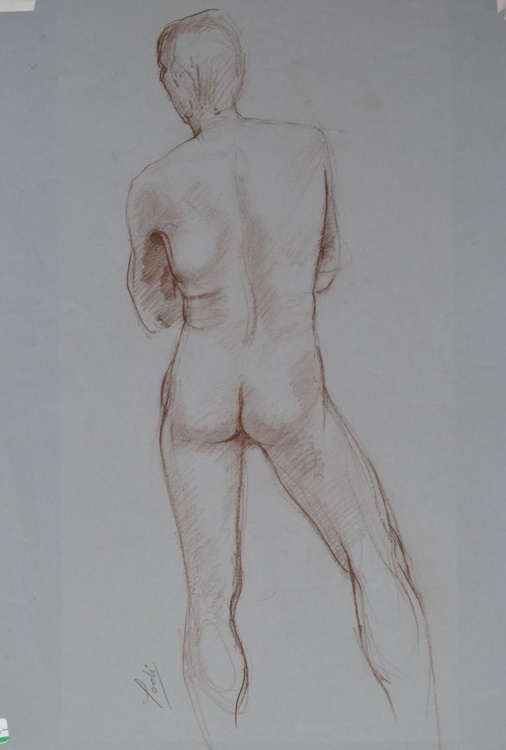 MALE NUDE STANDING - LIFE STUDY - Image 0