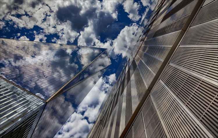 World Trade Center and Clouds  2 -