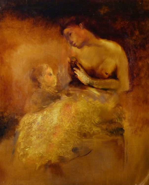 Mother and Son 5, oil on canvas 60x73 cm - Image 0