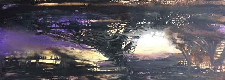 Africa purple landscape -