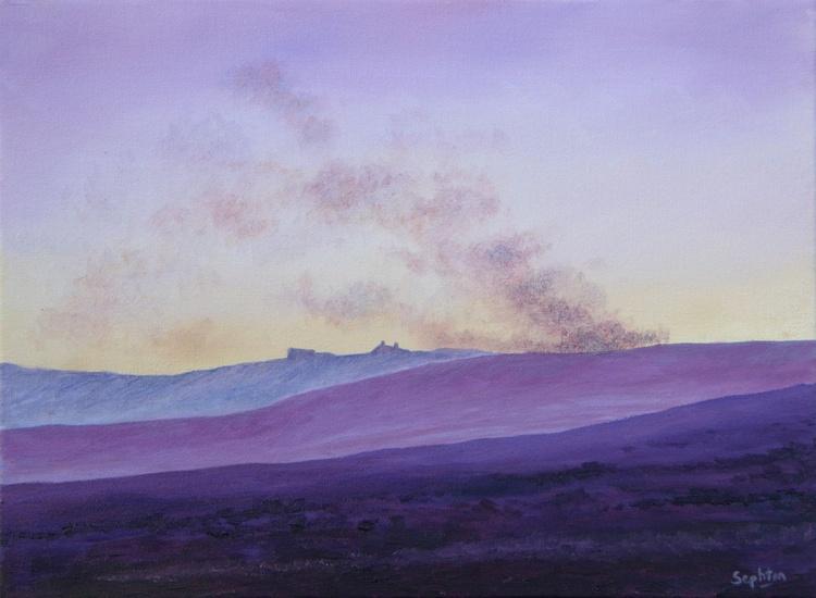 Burning Heather on The Moors - Image 0