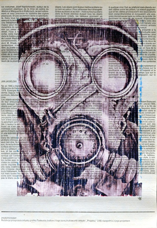 Military Gas Mask On Vintage Paper - Image 0