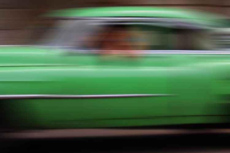 street gliding in Cuba -
