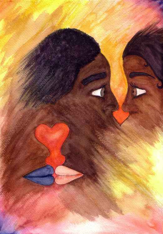 'Love Disconnection' Watercolour Painting -