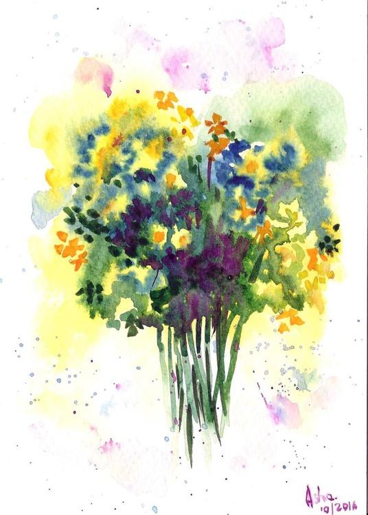 "A bush of flowers - 5""x 7"" - Image 0"