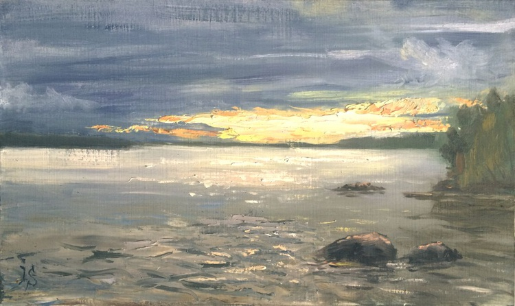 Sunset at Volgo lake. - Image 0