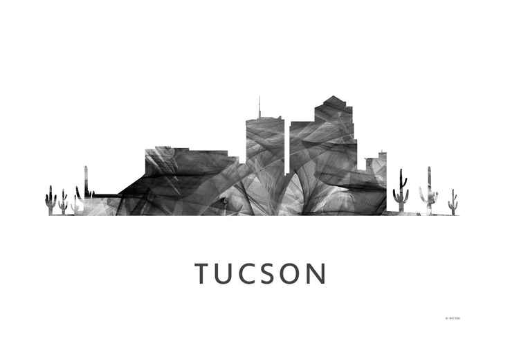 Tucson Arizona Skyline WB BW
