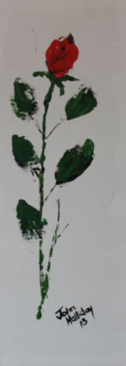 Single red rose 3. - Image 0