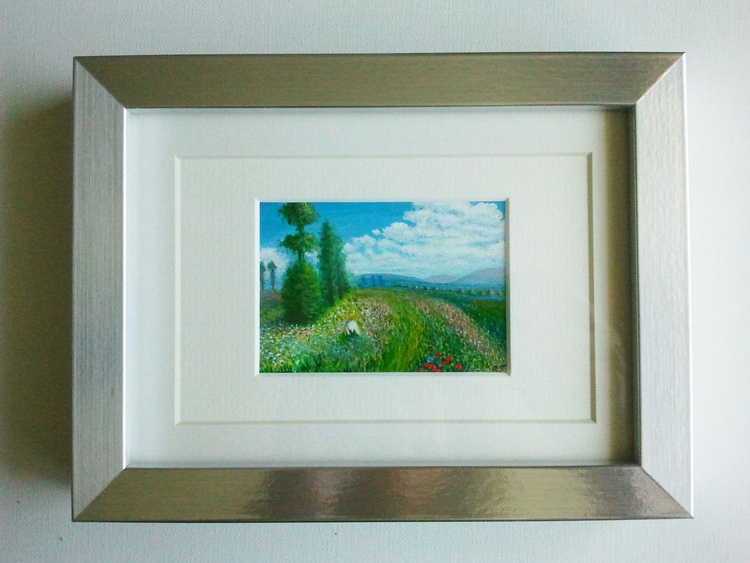 "Miniature of Claude Monet's ""Meadow with Poplars"" - Image 0"