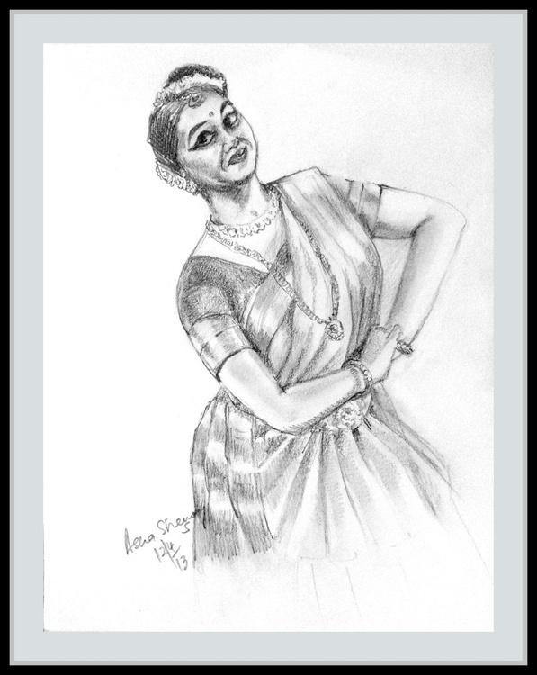 """Indian dancer 5 Mohini Attam- 8.25""""x 11"""" - Image 0"""