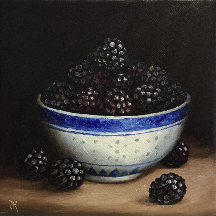 Bowl of Blackberries, ready to hang - Image 0