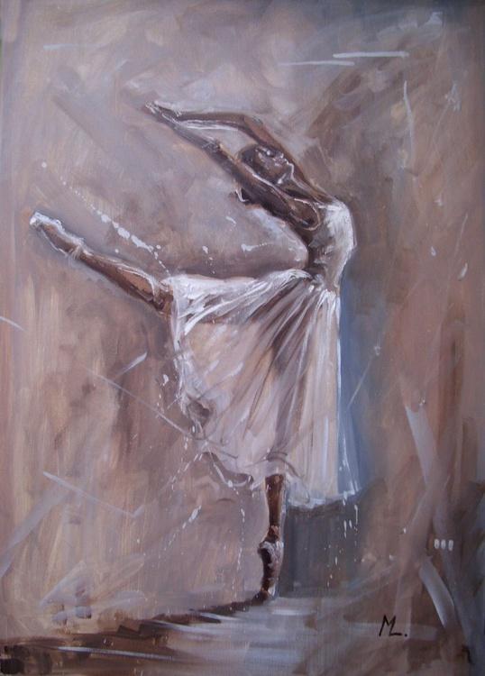""" MAGIC OF DANCE ""- ballerina liGHt  ORIGINAL OIL PAINTING, GIFT, - Image 0"
