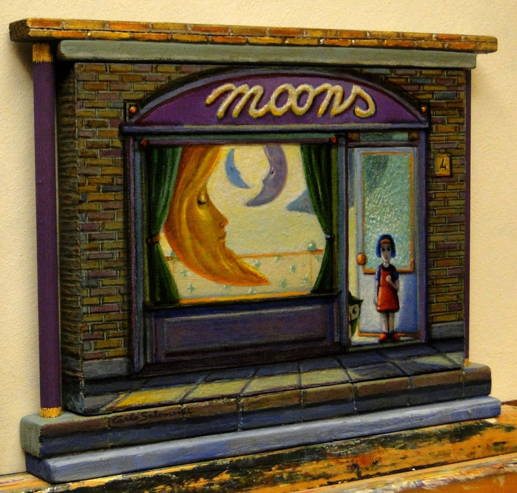 THE SHOP OF THE MOONS -(framed 3D effect) - Image 0
