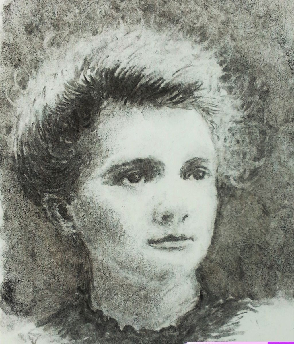 This is a picture of Epic Marie Curie Drawing
