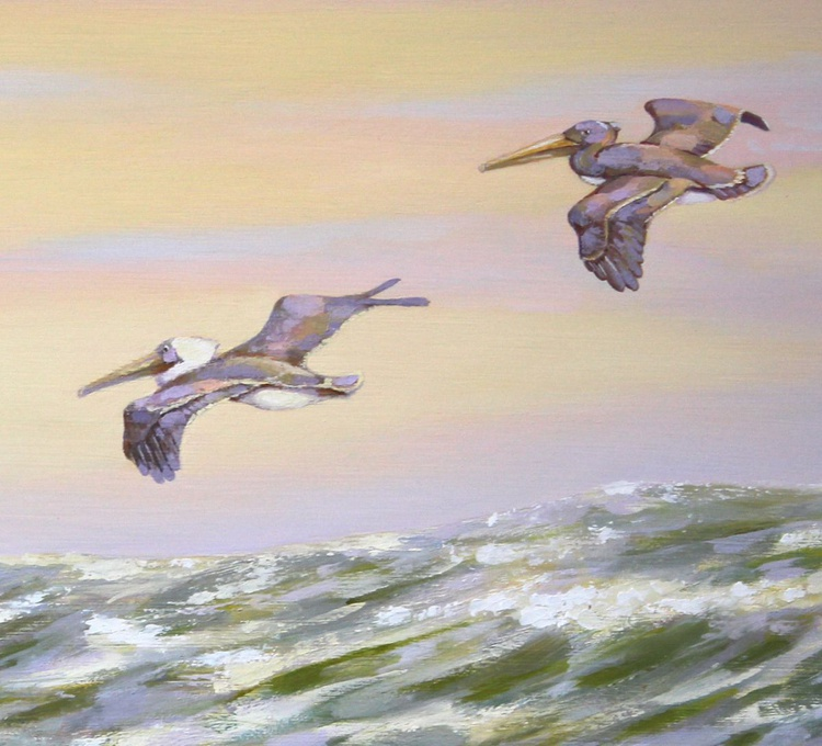Pelicans Twilight Flight - Image 0