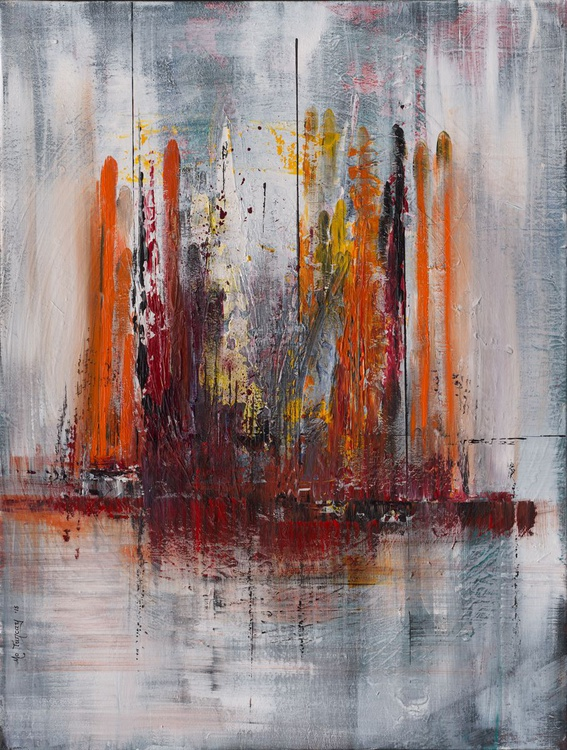 Abstract 131 - Abstract Acrylic Painting 2015 - Image 0