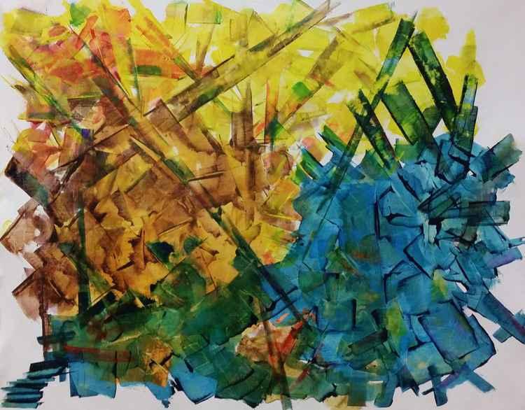 Trilogy - SPECIAL PRICE for ARTFINDER - BIG SIZE ABSTRACT ARTWORK