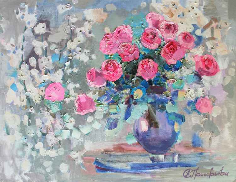 Roses. Spring tenderness -