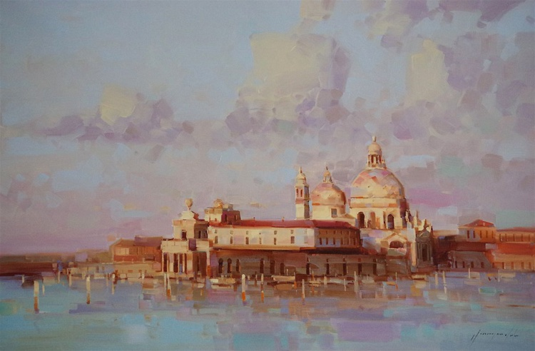 Venice Original oil painting  Handmade artwork One of a kind Large Size - Image 0