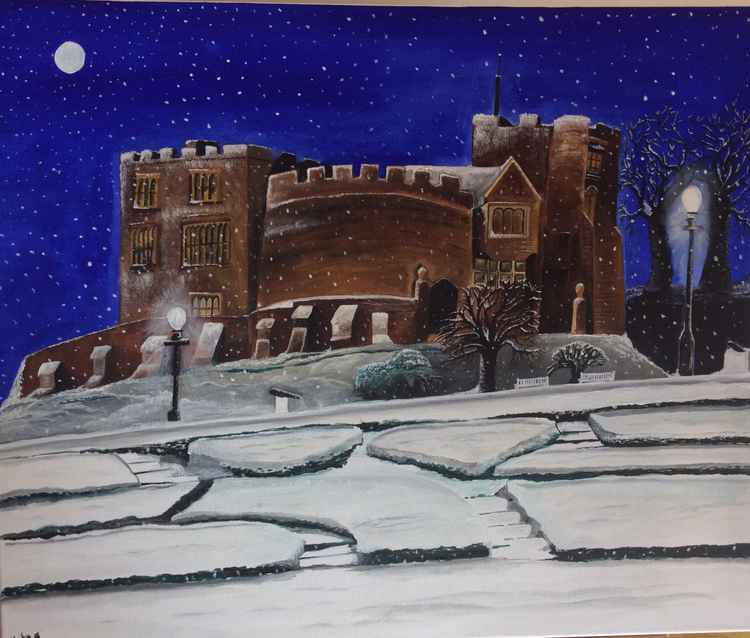 Snow over Tamworth Castle -