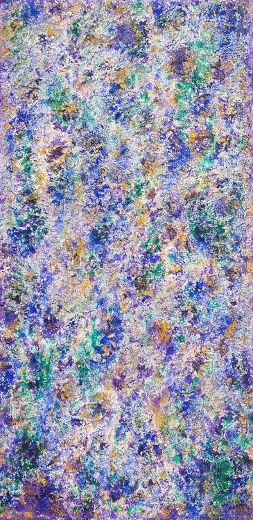 JEWEL TONES Abstract Texture Painting - Image 0
