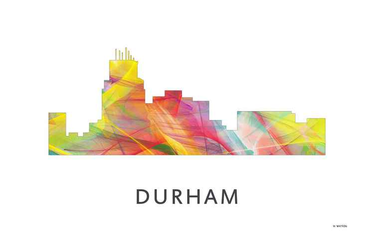 Durham North Carolina Skyline WB1 -
