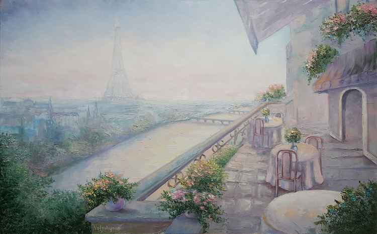 Dawn in Paris (80x50cm) -