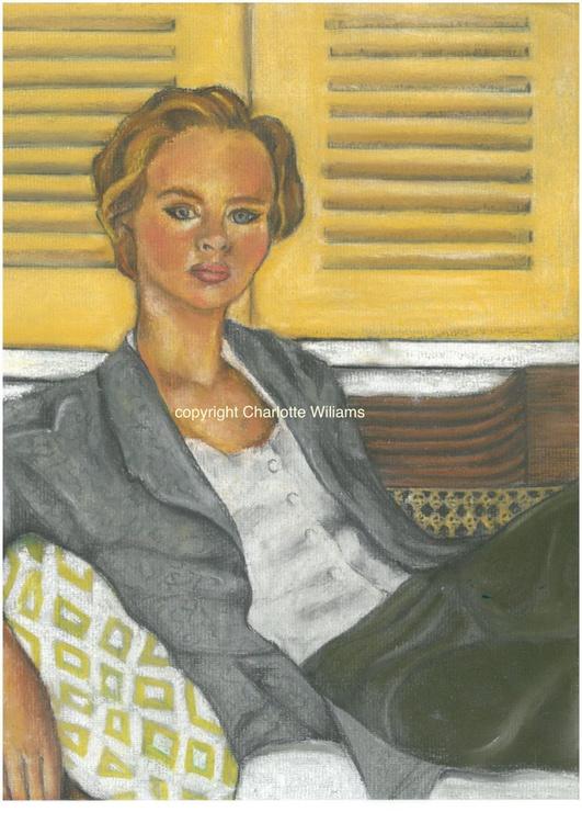 Lady reclining - Image 0