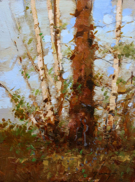 Landscape oil Painting One of a kind Signed - Image 0