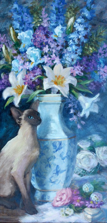 Siamese with Butterfly Vase - Image 0