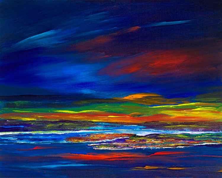 Ayrshire Coast, Scotland - Original Scottish  Clyde Coastline landscape painting, -