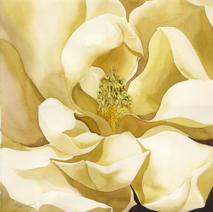 magnolia in yellow - Image 0