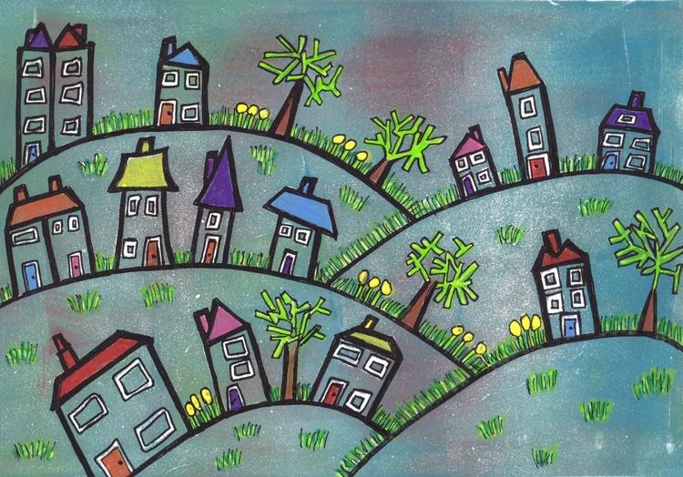 Happy little village - print 4 - Image 0