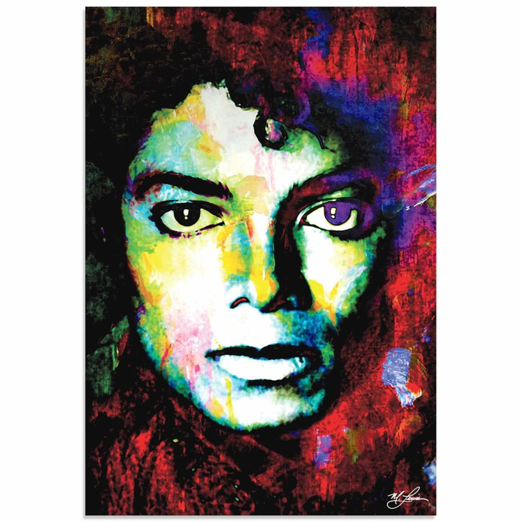 Mark Lewis 'Michael Jackson Study' Limited Edition Pop Art Print on Metal - Image 0